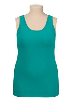 scoop neck plus size tank (original price, $18) available at #Maurices