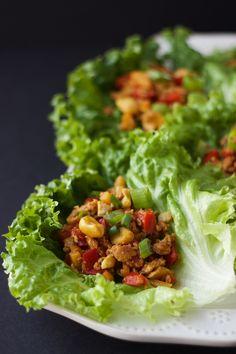 Asian Chicken & Cashew Lettuce Wraps