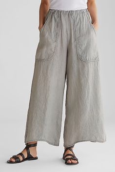 Women Linen Pants Casual Pockets Summer Plus Size Pants Sexy Bluse, Mode Pop, Cotton Pants, Linen Crop Pants, Linen Pants Women, Pants For Women, Linen Dresses, Wide Leg Pants, Loose Pants