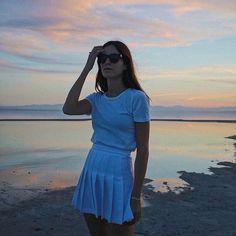 Chic Summer Outfits, Summer Dresses, Gala Gonzalez, Beach Casual, Cotton Sweater, Teen Fashion, Summer Time, Mini Skirts, Short Sleeve Dresses