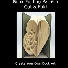 Book Folding PATTERNCut & Fold Rose Heart by TheGiftLibrary