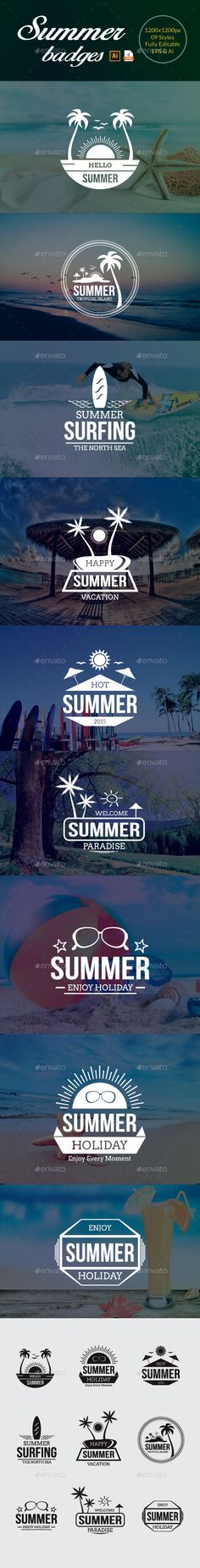 Summer Badges #design Download: http://graphicriver.net/item/summer-badges/11578103?ref=ksioks