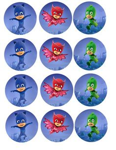 Vibrant PJ Masks photo cakes made easy with our edible cake stickers. Pj Masks Cupcake Toppers, Pj Mask Cupcakes, Fourth Birthday, 3rd Birthday Parties, Boy Birthday, Pj Masks Printable, Party Printables, Make Your Own Character, Pjmask Party