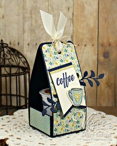 Welcome back to Day 4 of Verve's July Release Spotlight Hops! It's an exciting day as there's new Verve in the store this morning. Tea Holder, Coffee Holder, Cup Holders, Card Holder, K Cup Crafts, Coffee Cup Crafts, Coffee Gift Sets, Coffee Gifts, Card Tags