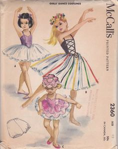 Girls Dance costume ballet McCalls 2360