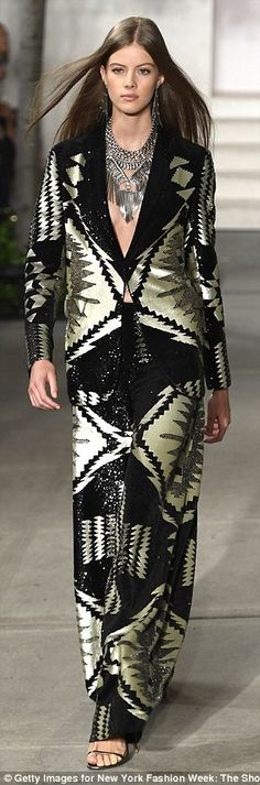 Hitting their stride:The 2017 Spring/Summer Ralph Lauren collection was Southwestern insp...