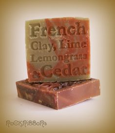 Cedar soap for men with fine french clay and aromatic essential oils.