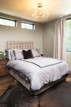 Modern Bedroom With Rustic Touch