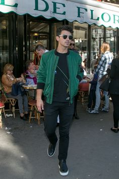 Take a cue from Joe Jonas and pull of the green jacket this fall.