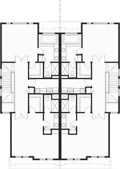 Duplex Floor Plans, Small Floor Plans, Farmhouse Floor Plans, Small House Plans, Lake House Plans, House Plans One Story, Modern House Plans, Country House Design, House Front Design
