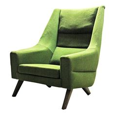 Green Mid Century Modern Lounge Chair