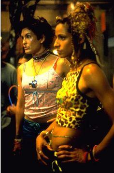 Olivia Benson and Monique Jefferies AKA Mariska Hargitay, Michelle Hurd in the episode runaways at a rave