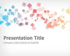 Abstract Squares PowerPoint Template