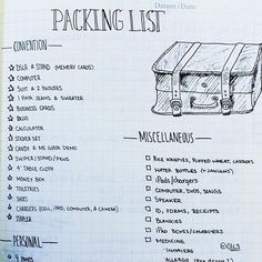 What to use a #BUJO (#bulletjournal) for # 100: Write your packing list! What…