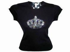 DesignerRhinestoneFashions - Princess Crown Swarovski Crystal Rhinestone T Shirt Design, $99.99 (http://www.designerrhinestonefashions.com/princess-crown-swarovski-crystal-rhinestone-t-shirt-design/)