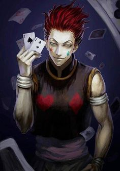 Hisoka - I love him so much. He's the best and he's such a mysterious charakter. And I want to know more about him