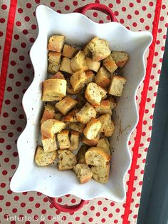 Easy Homemade Italian Croutons at Tatertots and Jello!!