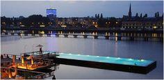 """Berlin. Badeschiff (""""bathing ship"""")"""