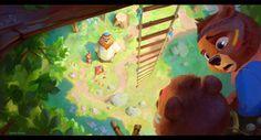 Baby Sister, Gosia Arska on ArtStation at https://www.artstation.com/artwork/W3Le2