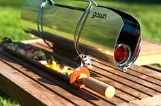 A solar-powered stove. | 29 Insanely Clever Products That Will Make You Want To Go Camping
