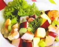 ensalada de pollo manzana y nueces