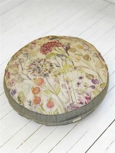 Hedgerow Large Floor Cushion - Voyage Maison www. Pillow Talk Cushions, Pillows, Cottage Living Rooms, Living Room Decor, Voyage Fabric, Large Floor Cushions, Dream House Interior, Crafts Beautiful, Home Decor Inspiration
