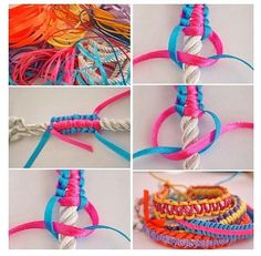 Making bracelets with rope