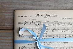 Vintage sheet music / Blue Danube waltz / by WhiteDogVintage, $29.00