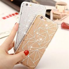 Soft TPU case for Apple iphone 7 case Bling Diamond-shaped Gradients Silicone painted Iphone 5s Covers, Iphone 6 Plus Case, Apple Iphone, Coque Iphone 5s, Iphone 4, Glitter Phone Cases, Bling, Portable, 6s Plus