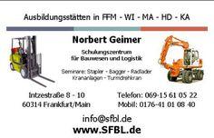 Staplerschein Frankfurt, Staplerführerschein, Staplerfahrer Ausbildung, Staplerscheinkurse