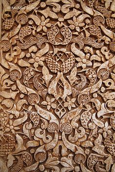 Arabesque pattern at the Alhambra by michael 誠, via Flickr