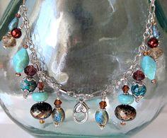 Treasure Keeper Necklace  Lake Party by MadamNina on Etsy, $30.00