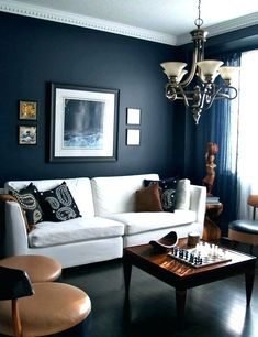 Blue and Brown Living Room Images. 20 Blue and Brown Living Room Images. 15 Brown and Blue Living Room Design Ideas to Try Masculine Living Rooms, Navy Living Rooms, Blue Living Room Decor, Paint Colors For Living Room, Living Room Interior, Blue Bedroom, Apartment Interior, Bedroom Wall, Bedroom Ideas