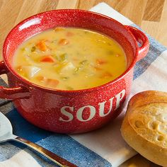 Vegetable Cheese Soup Recipe - with chicken broth, chicken bouillon, onion, carrots, diced celery, potatoes, butter, milk, flour, cayenne pepper, shredded cheddar cheese