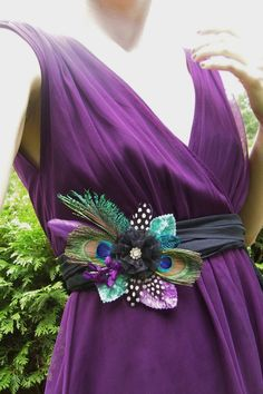 Peacock Dress Pin-for the bridemaids