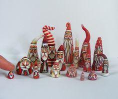 Santa Claus Miniature Folk Art Doll House Dolls Christmas