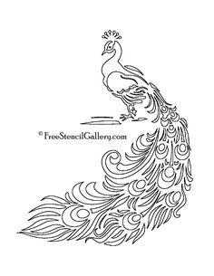 free printable peacock template   Free Stencil Gallery