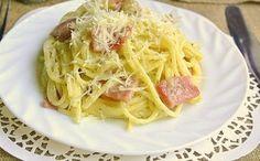 Talianska  klasika Pasta Carbonara, Most Delicious Recipe, Allrecipes, Italian Recipes, Spaghetti, Cooking Recipes, Yummy Food, Dishes, Ethnic Recipes