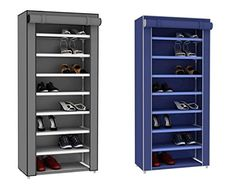 $24.39 Sunbeam 24-Pair Shoe Closet: Blue