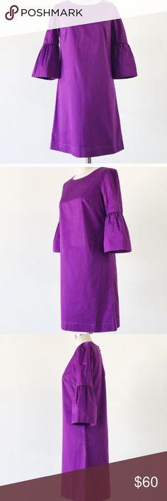 Bell sleeve French Connection Dress EUC purple French Connection Dress. Bell sleeves add a touch of fun flare. Wear to work, wear it out, wear it both! French Connection Dresses