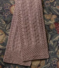 Ravelry: Cables and Squares Scarf pattern by Marsha White