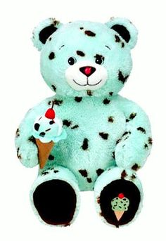 2010 Retired Build A Bear Workshop Mint Chocolate Chip Ice Cream Cone BR Baskin Robbins Summer Series Collection Unstuffed Teddy Bears with Accessory RARE In Stock Now at http://www.bonanza.com/booths/TweetToyShop