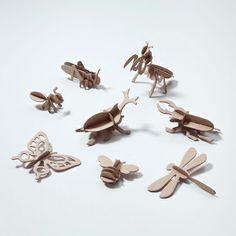 Figuras para montar insectos