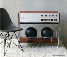 The compact G3, a lower cost version of the Project G. The Clairtone Project G is a futuristic stereo system from the 1960's.