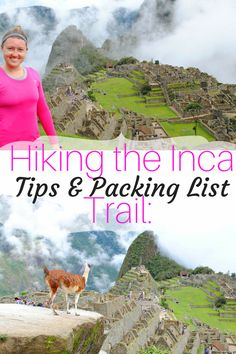 hiking the inca trail, inca trail packing list, machu picchu packing list, guide to hiking the inca trail Away We Go, Bucket List Destinations, Hiking Tips, Day Hike, Machu Picchu, Peru, Travel Tips, Places To Go, Trips