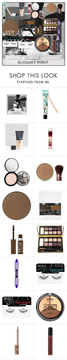 """ARIANA GRANDE 'Everyday' Makeup Look"" by oroartye-1 on Polyvore featuring beauty, Benefit, Maybelline, Soap & Glory, Pixi, Rimmel, Bella Il Fiore, L'Oréal Paris, Ardell and Charlotte Tilbury"