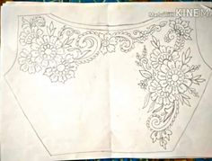Paper Embroidery Design Hand work blouse design paper part 3