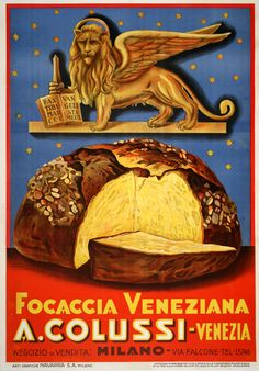 FOCACCIA VENEZIANA, a small original vintage poster from Venice by EMKA! Check it out on our website: http://www.postergroup.com/details.asp?posterid=218