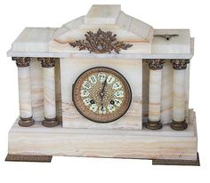 1714 FRENCH ONYX CASED MANTLE CLOCK. SI
