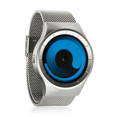 Step into the future with the Mercury Watch by ZIIIRO. The stainless steel band and fluid blue face design makes this a one of a kind piece. Please allow 1-2 w